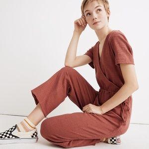 Madewell Texture & Thread Wrap Jumpsuit